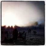 Lichtzauber der Schneekanaonen