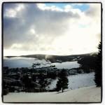 Blick ins Skigebiet