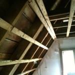 Blick ins entkernte Dachgeschoss