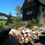 ordentlich Holz vor der Hüttn